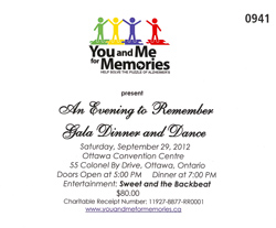 Alzheimer's Dinner and Dance Gala – September 2012